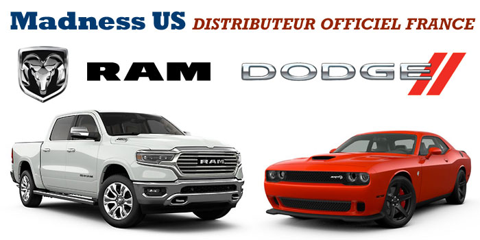 Madness US est Distributeur Officiel Dodge et Ram en France